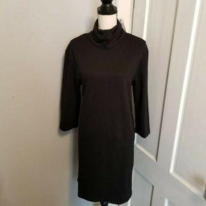 Zara Womens Black Casual Dress Size M 3/4 Sleeve